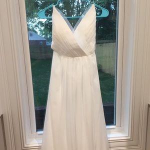 Modern Minimal Backless Wedding Gown